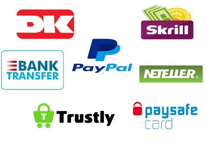 Online Casino's accepteren meerdere Betaalmethoden