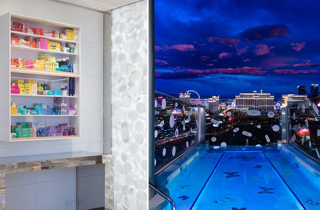 Medicijnkast en zwembad