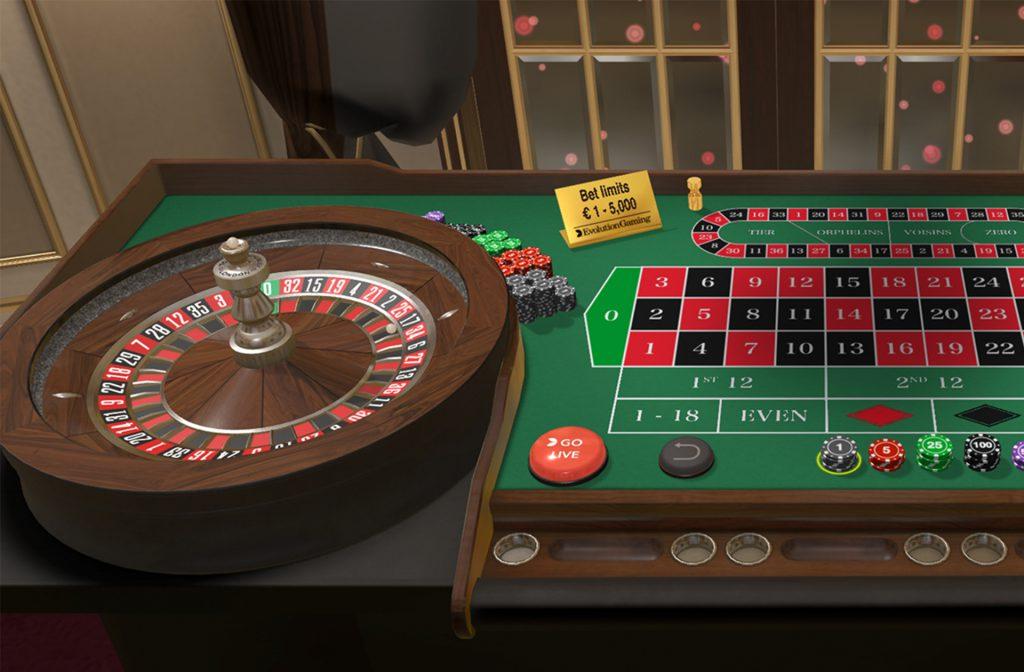 Roulette door Evolution Gaming