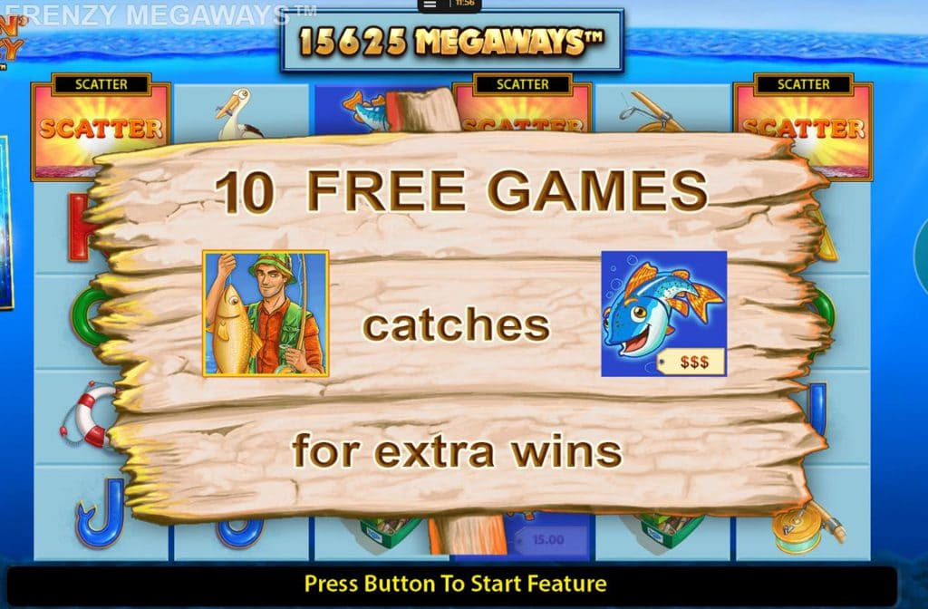 Free Games bij Fishin' Frenzy Megaways