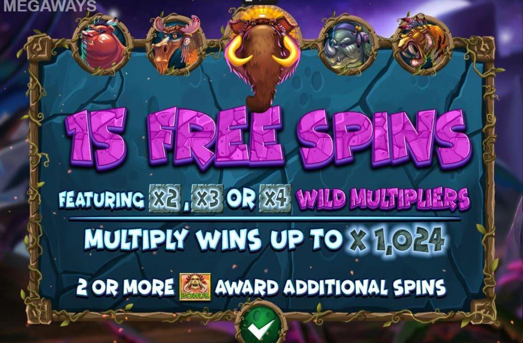 Free Spins bij Primal Megaways