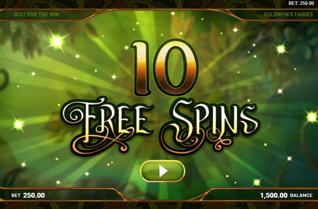Free Spins bij Goldwyn's Fairies