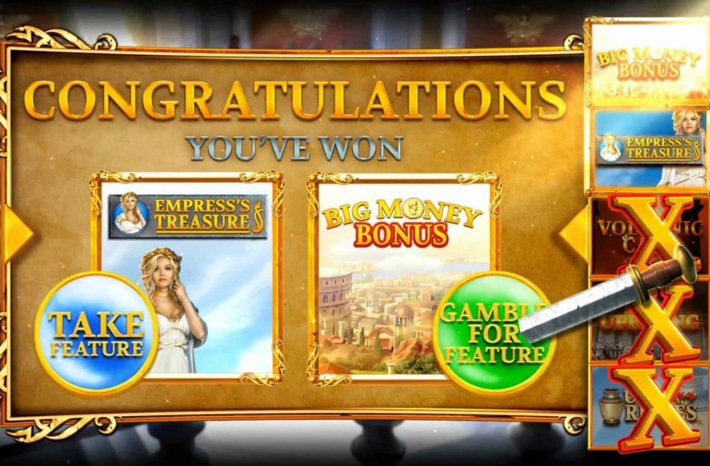 Het bonusspel bij Rome Rise of an Empire