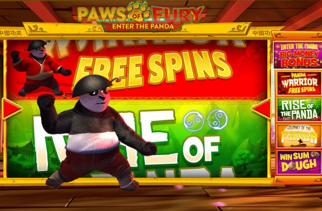 Het bonusspel in Paws of Fury