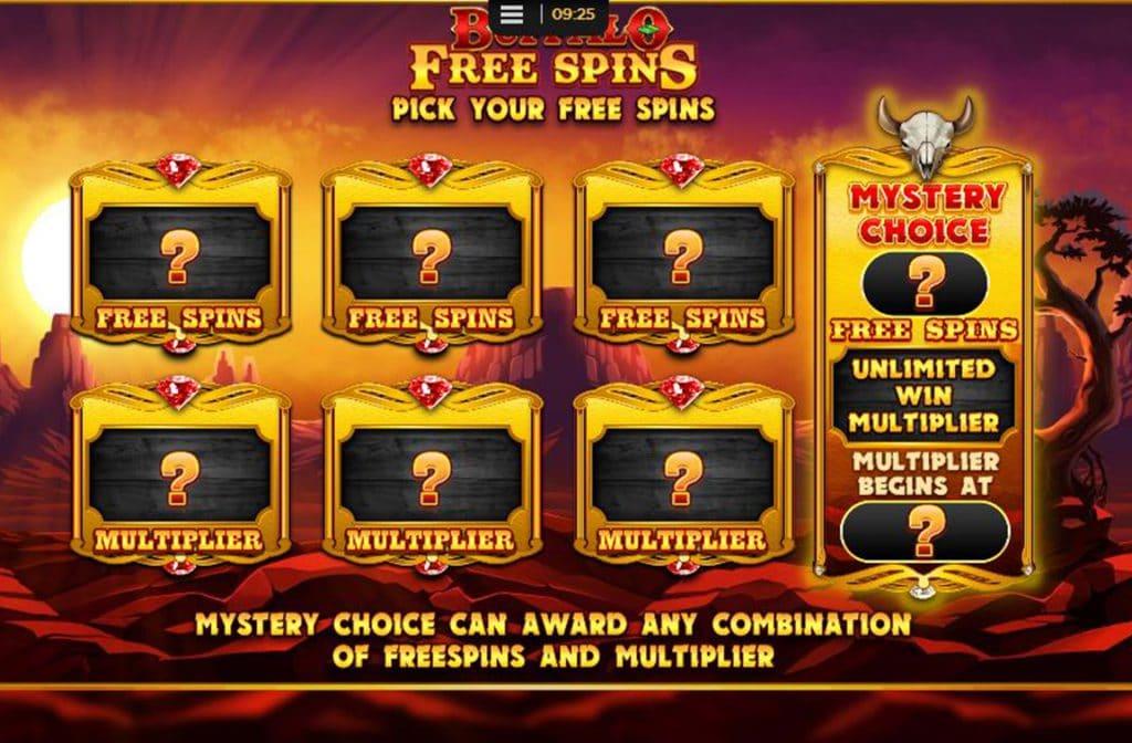 Mystery Free Spins Bij Buffalo Rising