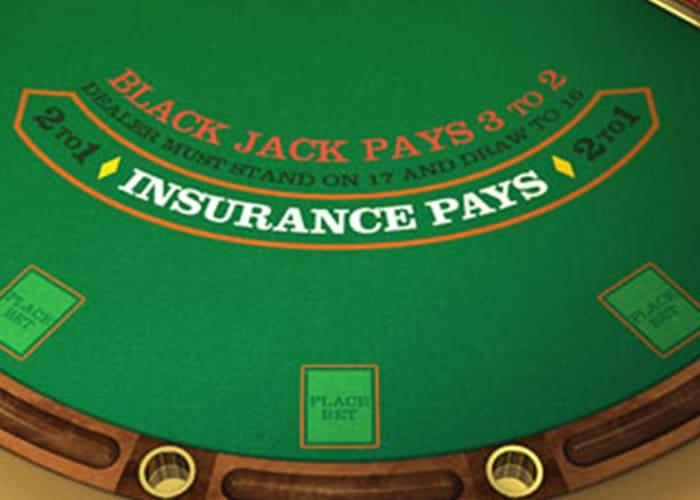 Niet verzekeren bij Blackjack