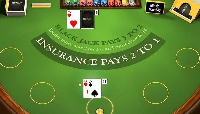 Dubbelen bij Online Blackjack