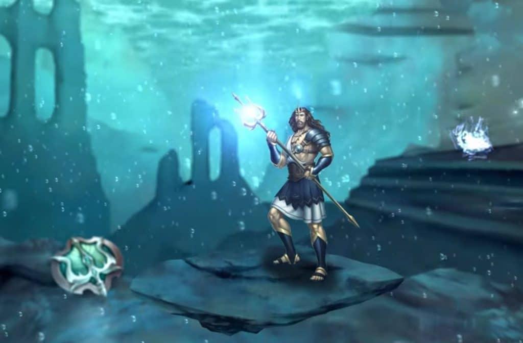 Poseidon mag niet ontbreken als God van de zee