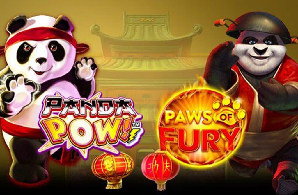 Vechtende panda's zijn gewilde thema's voor gokkasten