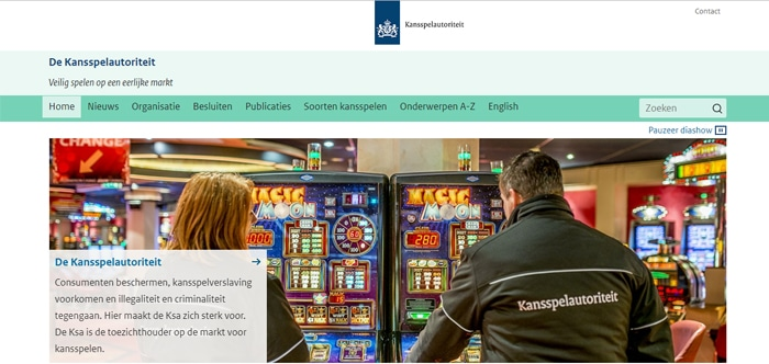 Website Kansspelautoriteit