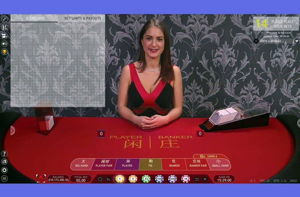 Extreme Live Gaming biedt baccarat in een live versie aan