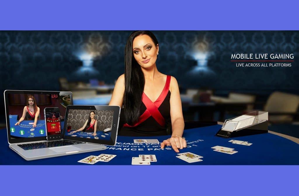 De camerabeelden bij blackjack geven je het gevoel dat je in een echt casino zit