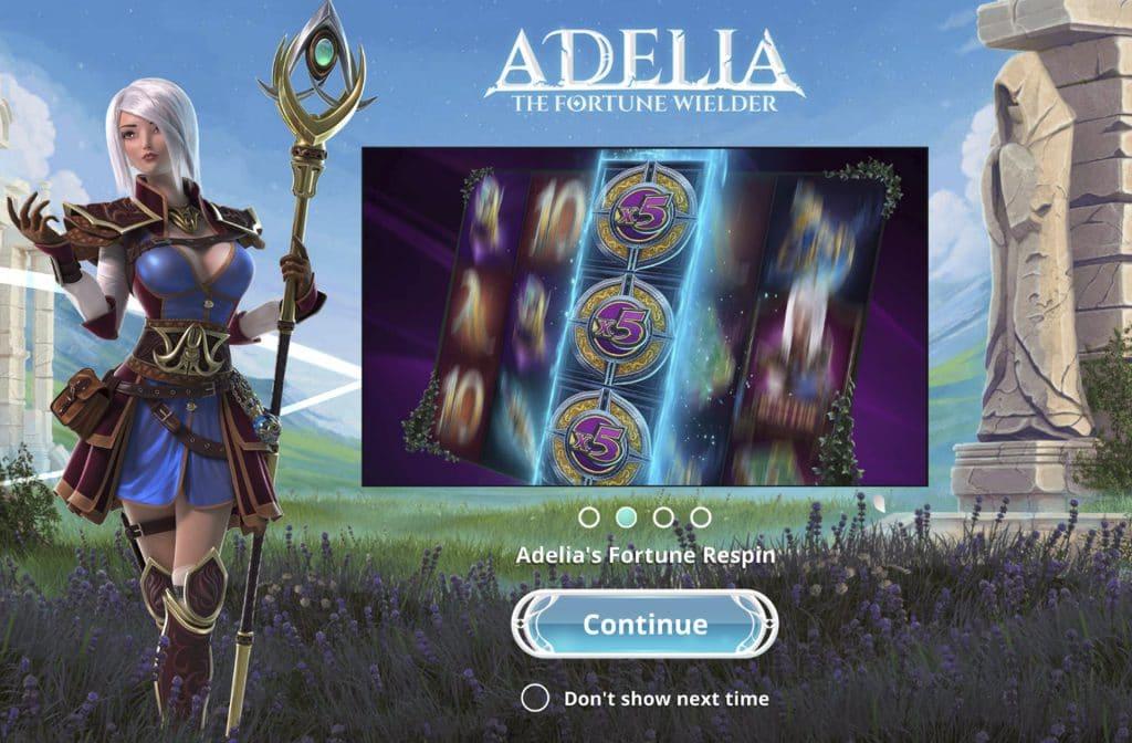 Bij Foxium's Adelia The Fortune Wielder is een enorme jackpot te verdienen