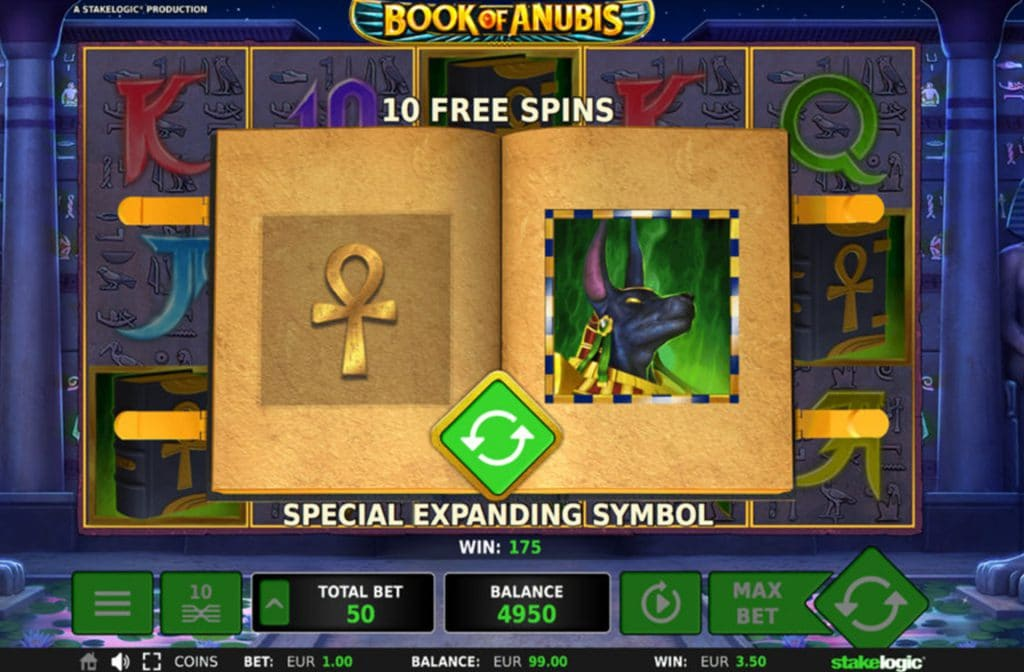 Free Spins bij Book of Anubis