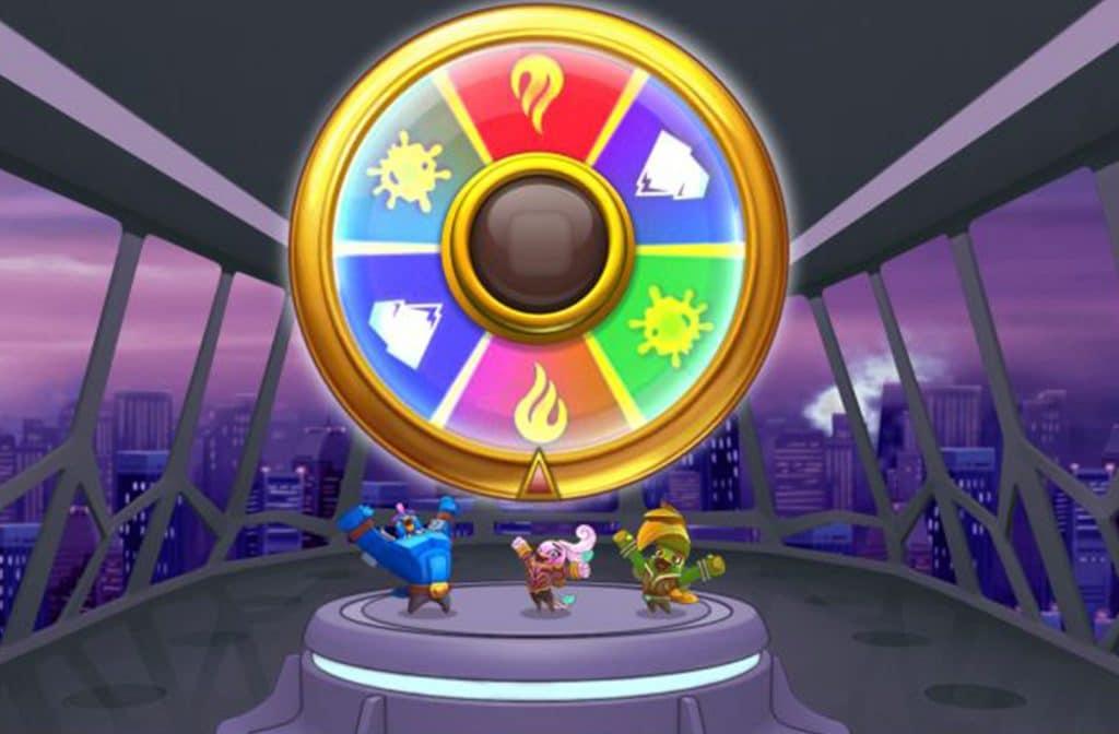 Het bonuswheel bij Wild Worlds