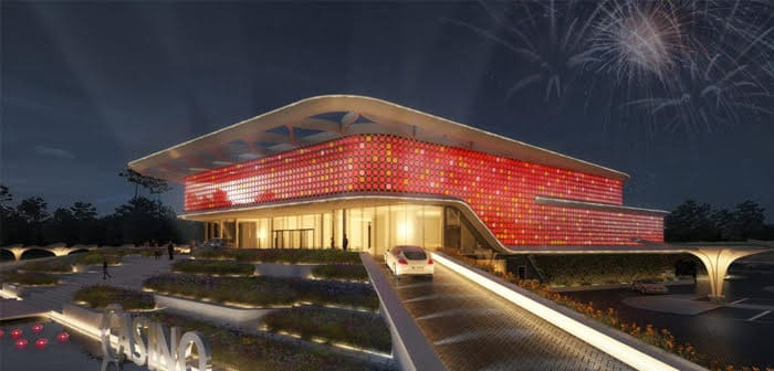 Het toekomstige Holland Casino in Venlo
