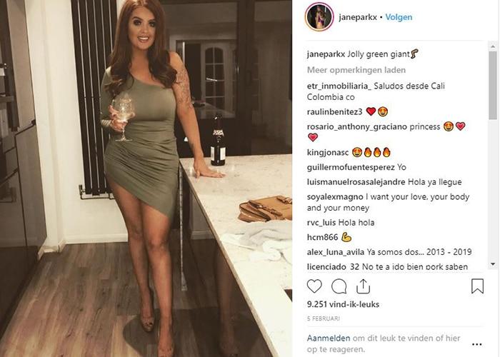 Jane is populair op Instagram met 140.000 volgers