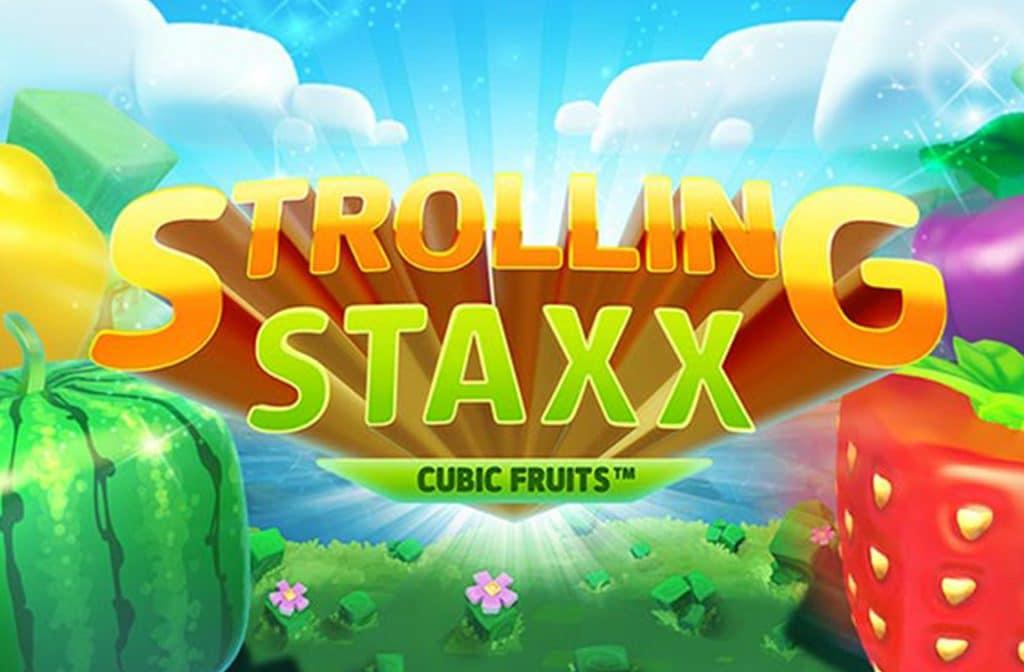 Kubusvormige fruitsymbolen in Strolling Staxx