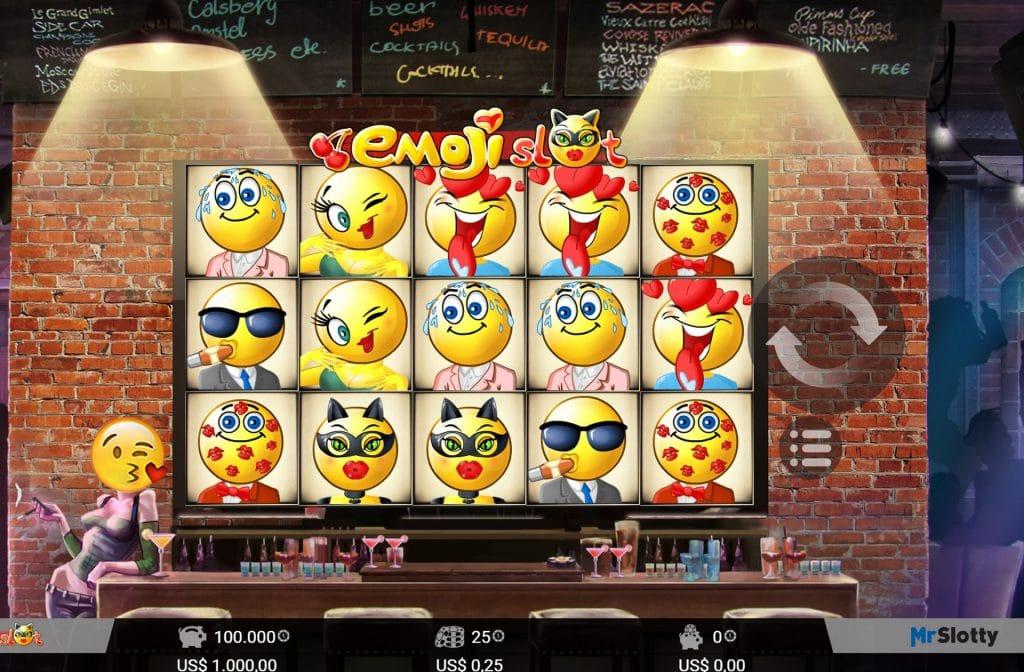 Het slot Emoji van MrSlotty is een vrolijk slot vol met emoticons