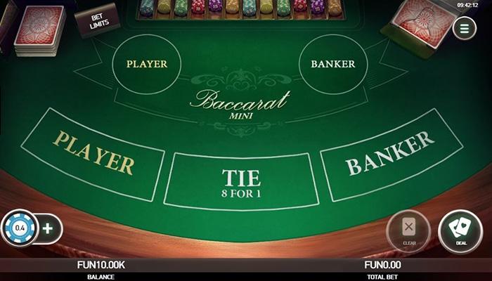 Platipus Gaming ontwikkeld ook tafel spellen als Baccarat