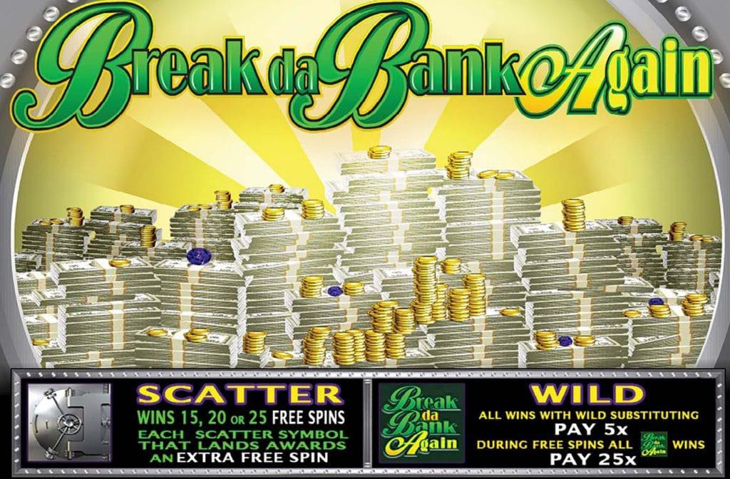 Scatters en wilds bij Break Da Bank Again