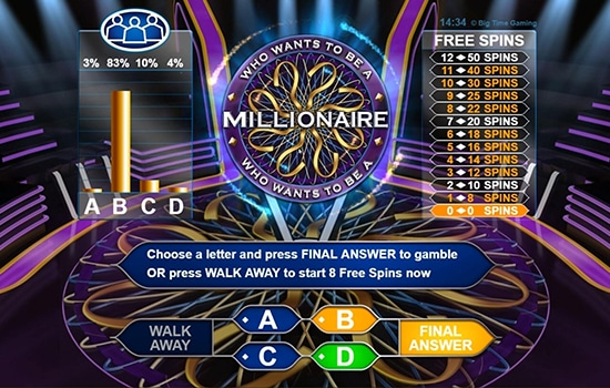 Spannende bonusronden bij Who wants to be a Millionaire