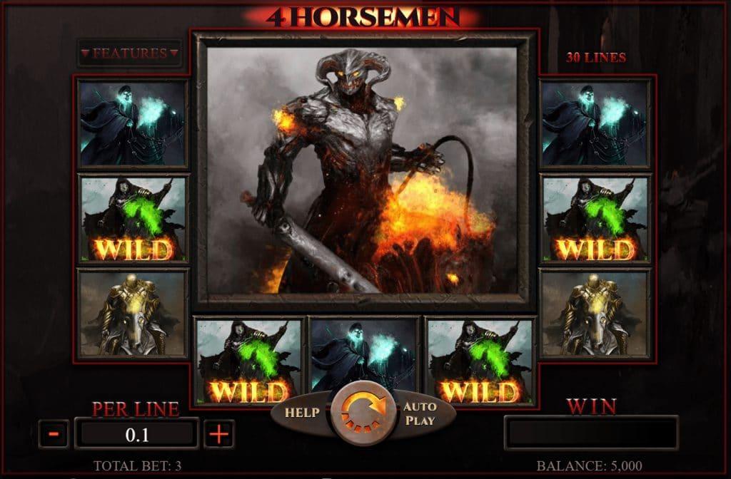 Slot 4 Horsemen van Spinomenal heeft een unieke gameplay en prachtige graphics