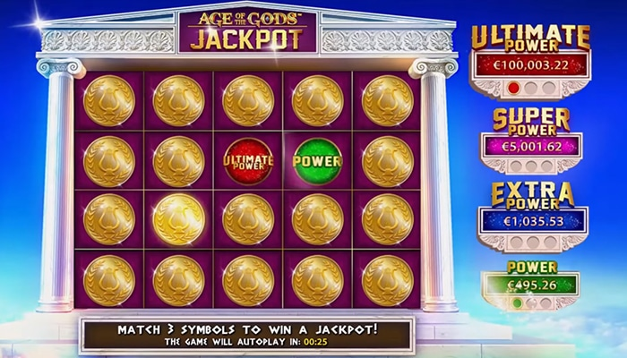 Age of the Gods heeft een vette Jackpot