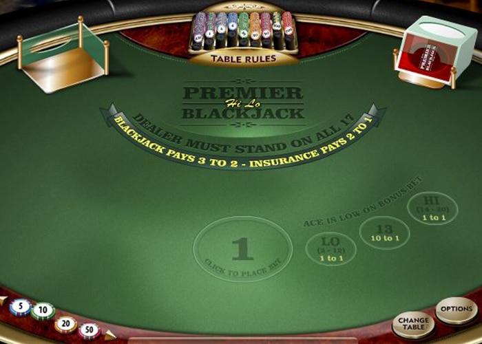 Diverse Sidebets bij Blackjack HiLo