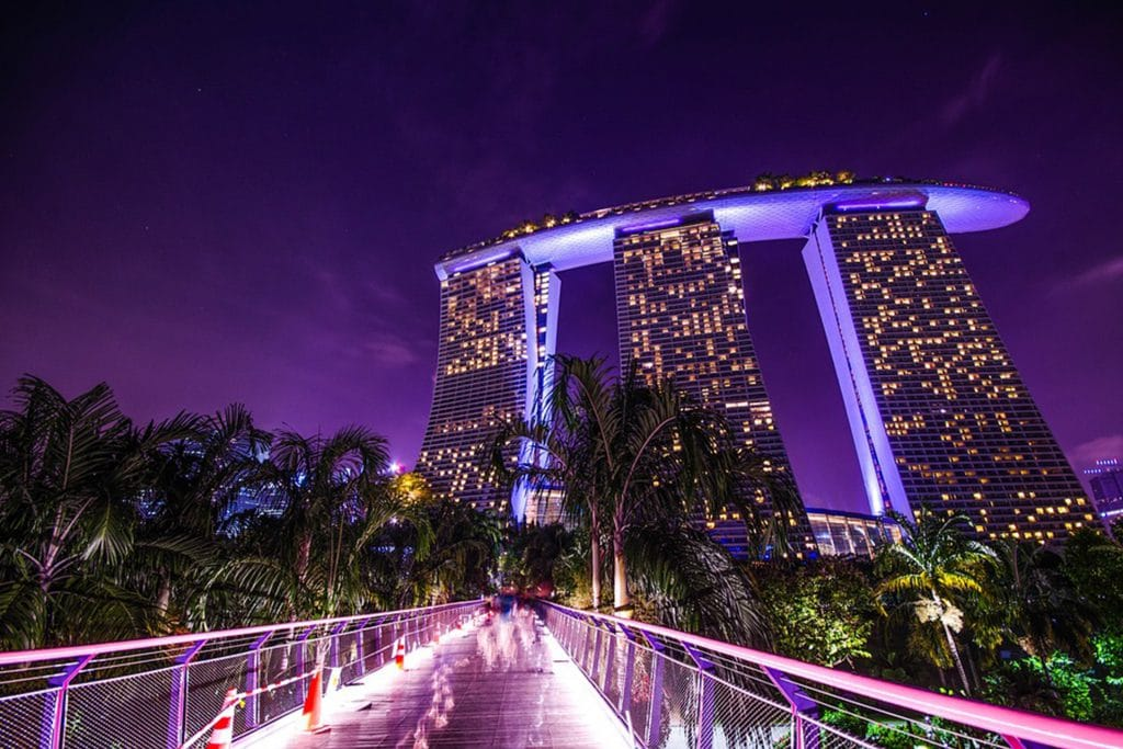 Het luxe Marina Bay Sands in Singapore heeft zelfs een prachtig zwembad