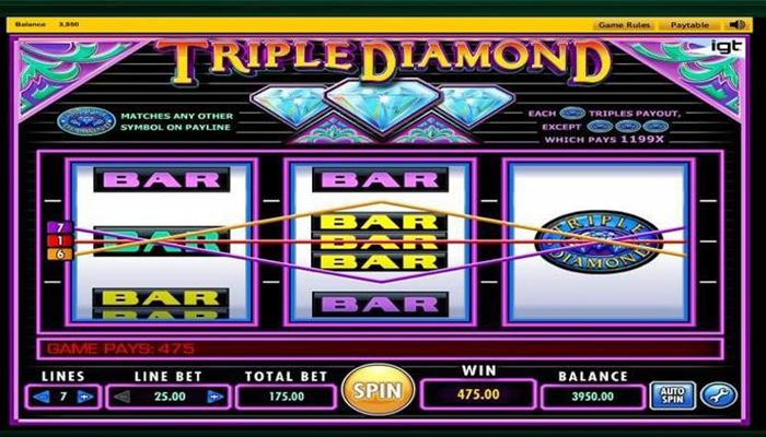 Triple Diamond Gameplay