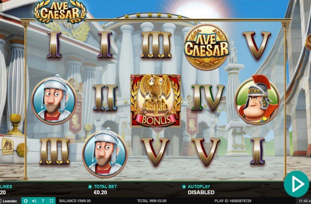 Ave Caesar heeft 5 rollen en 20 winlijnen