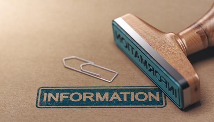 Wij vergaren de juiste informatie