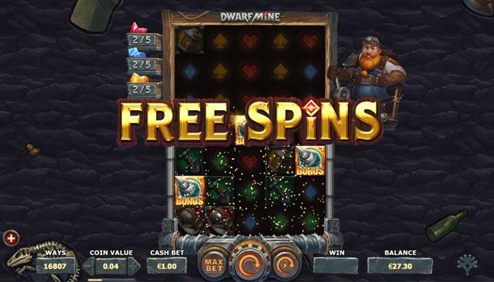 Free Spins zijn tof bij Dwarf Mine