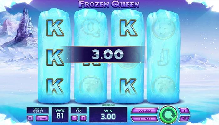 Frozen Queen heeft 4 rollen en 81 winlijnen