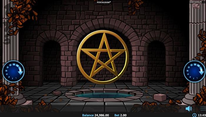 Het Pentagram kondigt de Free Spins aan