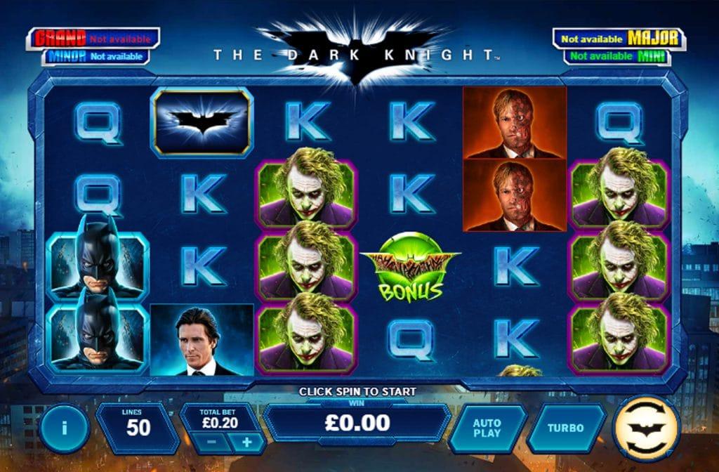 The Dark Knight van Quickfire heeft een progressieve, hoge jackpot