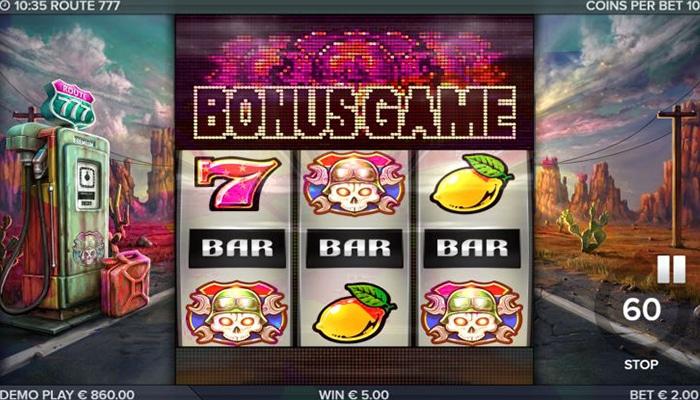 Het Bonusspel wordt geactiveerd