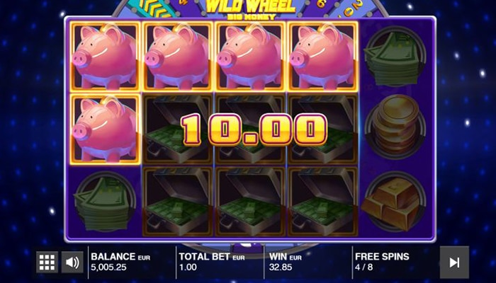 Spaarvarkens bij Wild Wheel Big Money