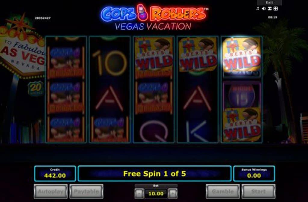 Wilds zijn prima bij Cops N Robbers Vegas Vacation