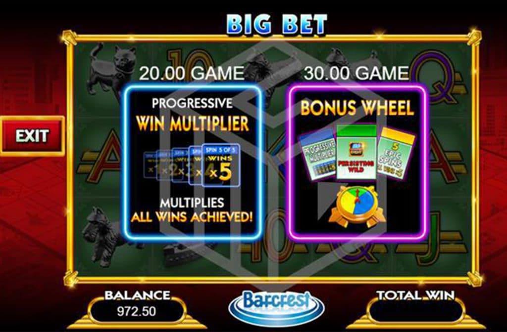 Big Bet Bonusgame