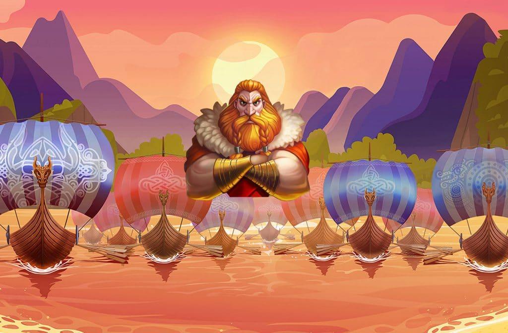 Erik The Red met al zijn Viking schepen