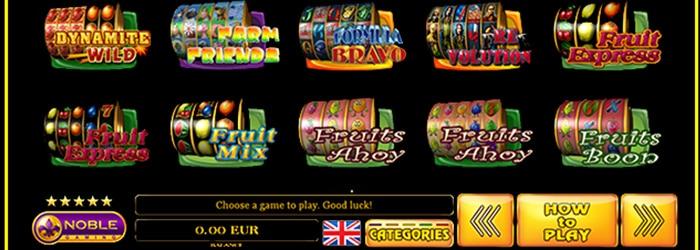 Noble Gaming Diverse fruitautomaten