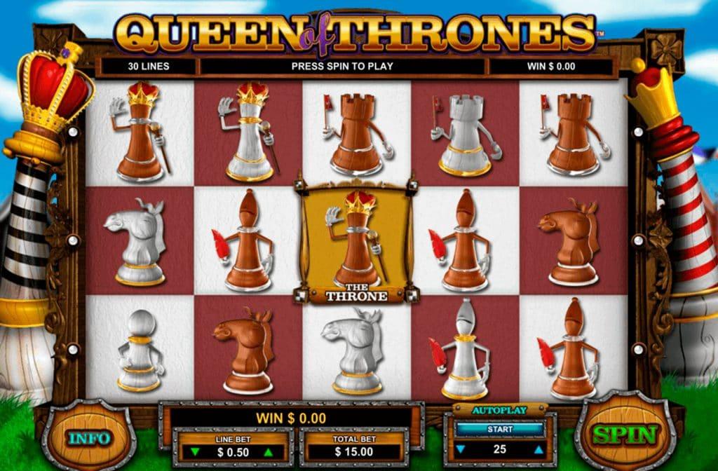 Queen of Thrones heeft als uniek thema schaken