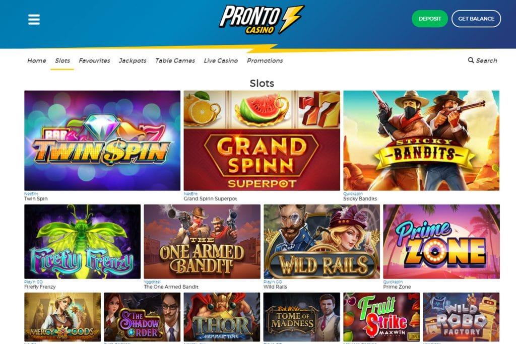 Slots Spelen bij Pronto Casino
