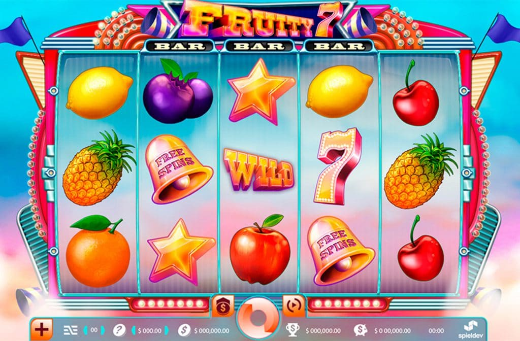 Fruity 7 is een remake van de bekende fruitmachine