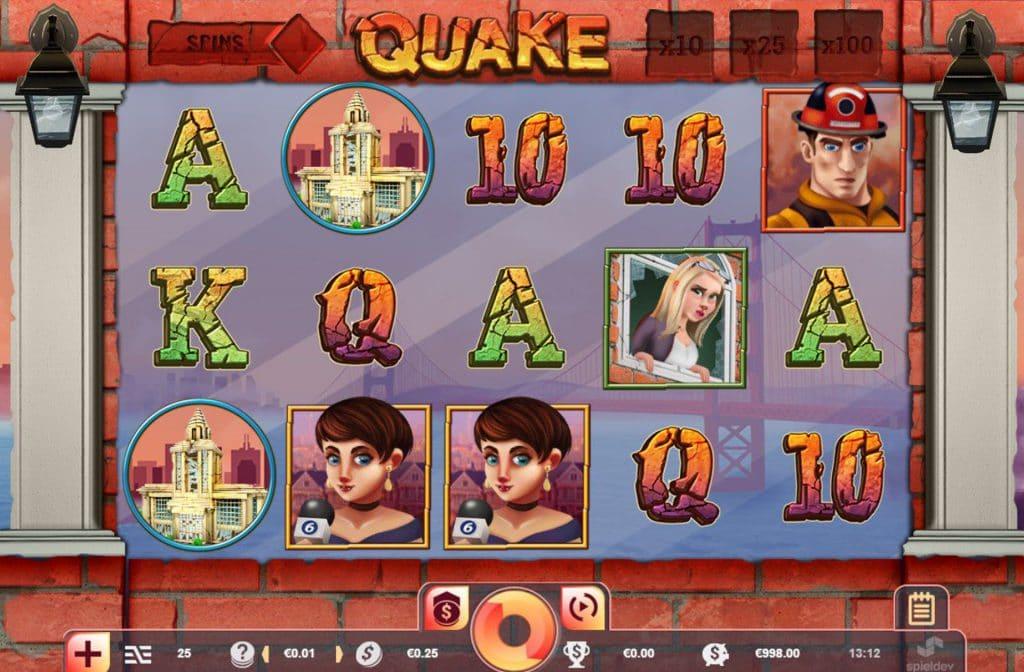 Bij het spel Quake vinden er aardverschuivingen plaats, wat zorgt voor extra symbolen en extra winstkansen