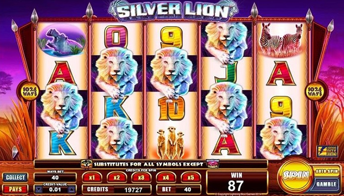 Stellar Jackpots with Silver Lion Gameplay
