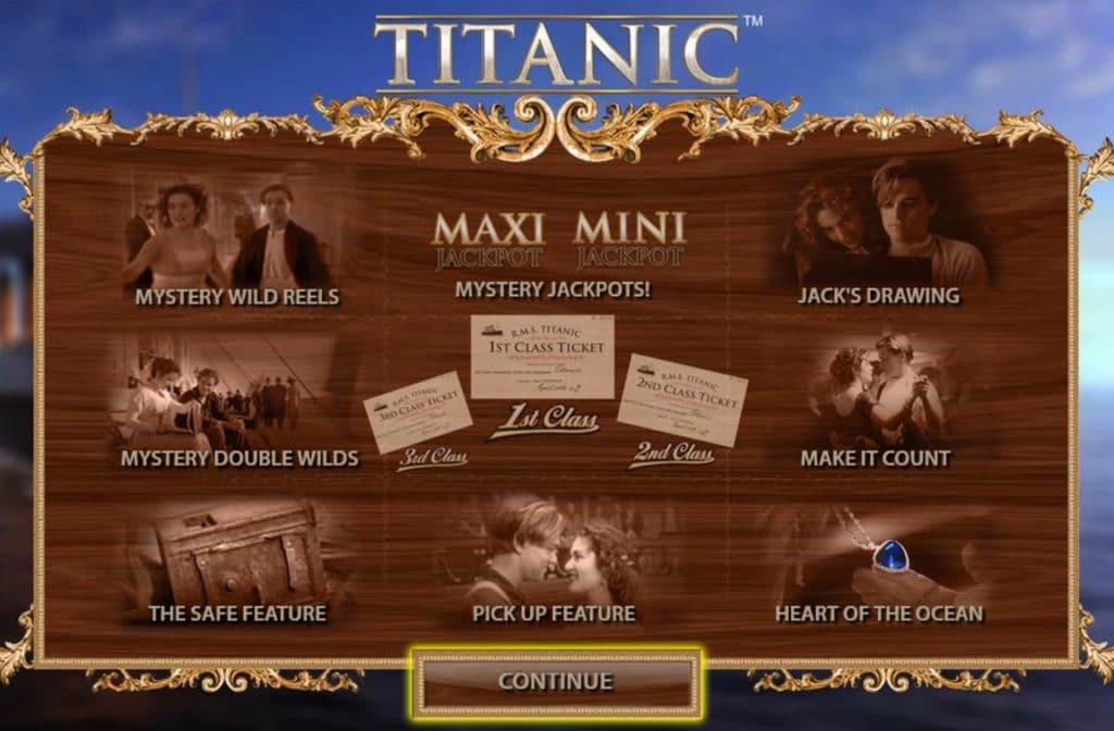 Veel extra's bij Titanic