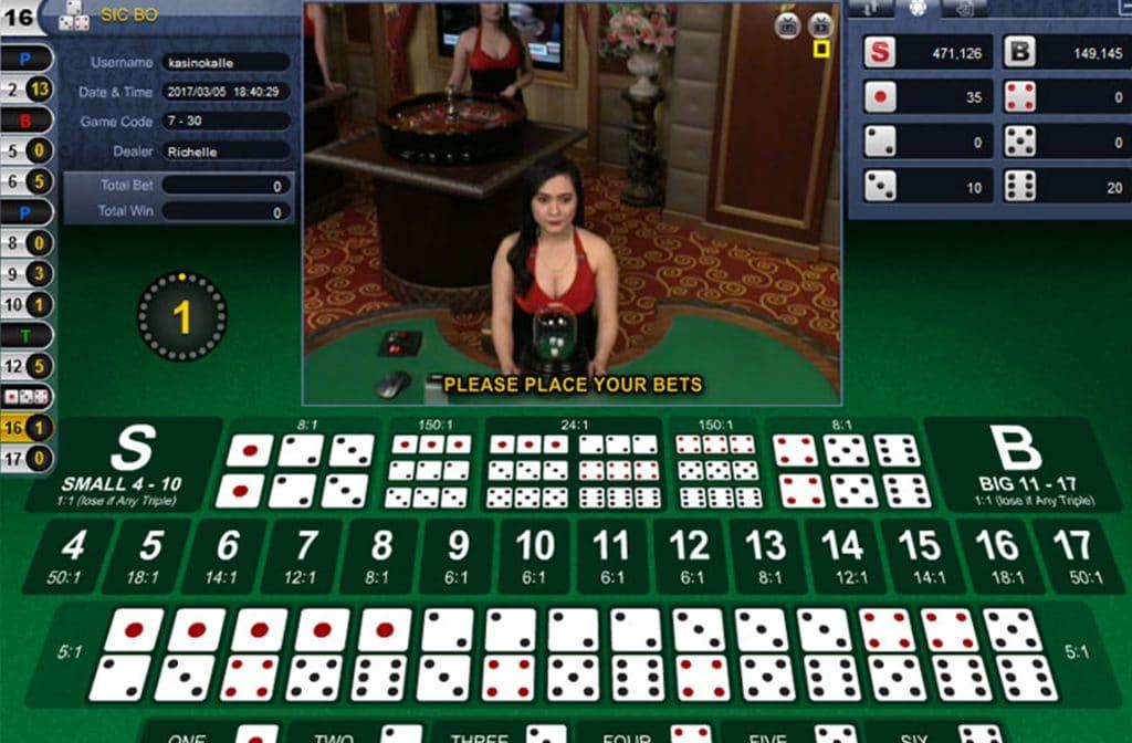 Sic Bo is een favoriet tafelspel bij de Aziaten